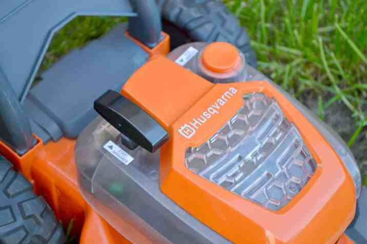 Husqvarna Toy Walk Lawn Mower - Close Up