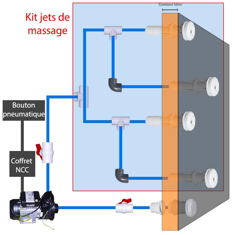 massage jet kits for concrete spas