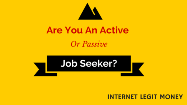 Are you an active or passive job seeker