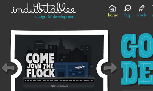 indubitablee in 30 Excellent Black Website Designs for Inspiration