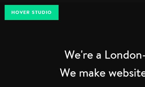 Hover Studio - Minimal Website