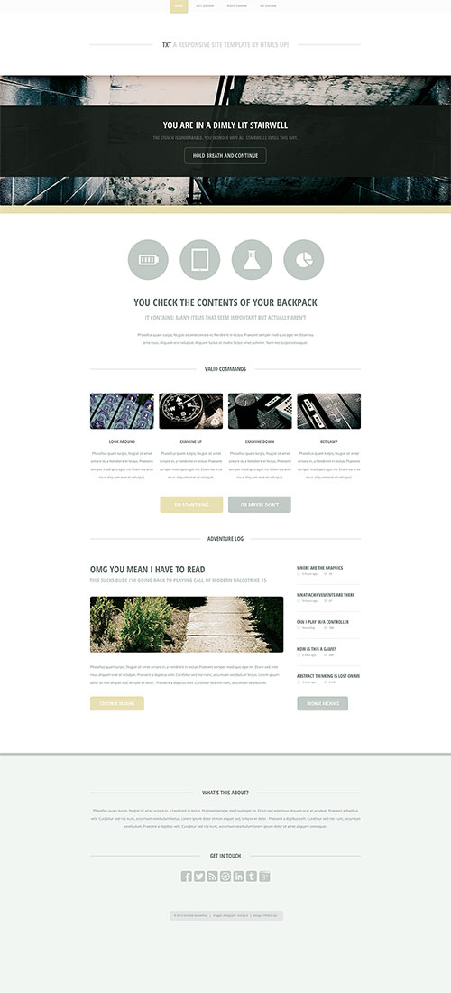 Txt - Responsive Portfolio/Business Template