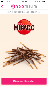 Shopmium screenshot - free Mikado