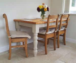 painted pine dining table