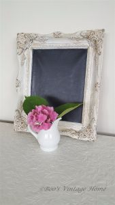 white shabby chic picture frame
