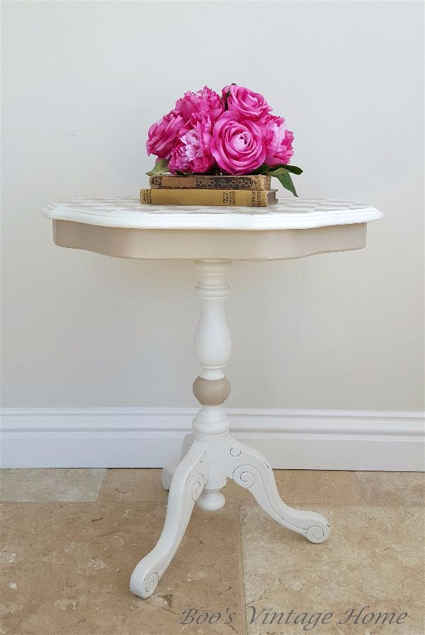 small side table - harlequin design