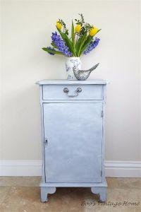bedside cabinet blue