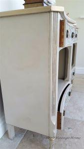 vintage concave front bedside cabinets
