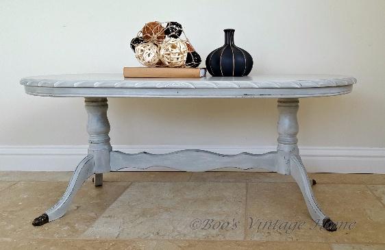 vintage oval coffee table