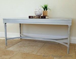 grey vintage coffee table with gilding