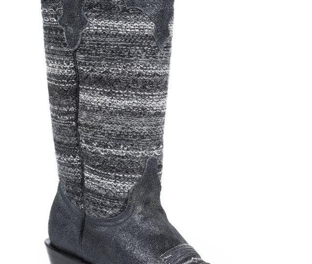 Roper Womens Fashion Fabric Snip Toe Western Boots Black Hi Res