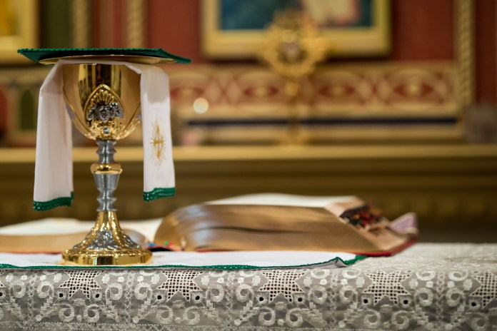 chalice and gospel