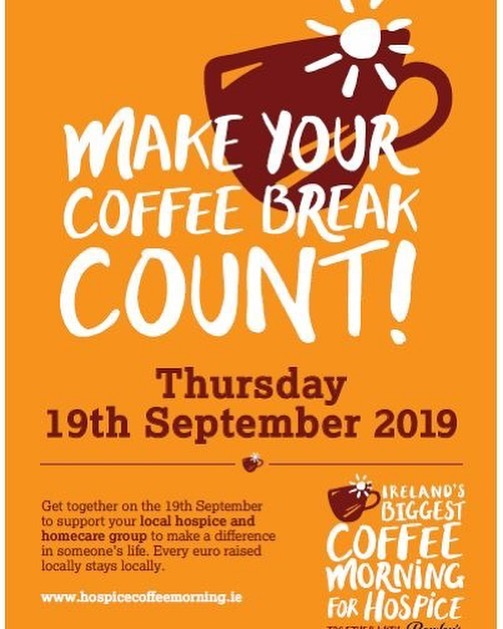 Irelands biggest coffee morning flyer