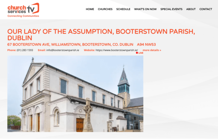new webcam link for booterstown church