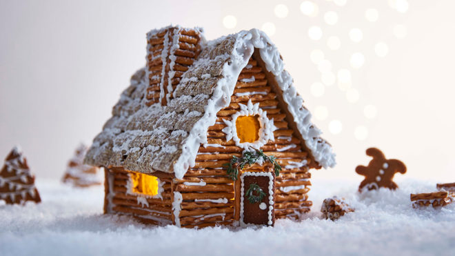 Festive Gingerbread House Recipe Booths