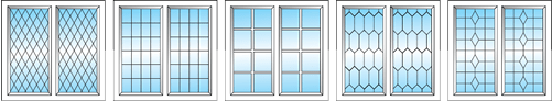 Leaded Window Styles froim Bootle Glass