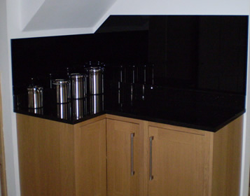 Bootle Glass - Glass Splash Back in Black