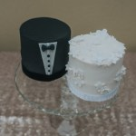 Mr and Mrs Mini Wedding Cake