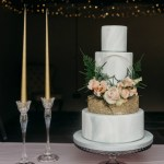 Marble and Gold wedding cake