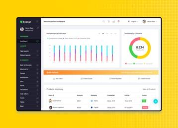admin template Stellar premium admin dashboard