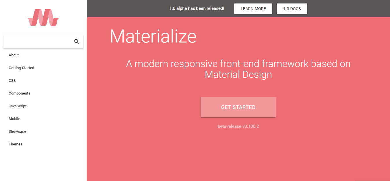 Materialize Material Design framework