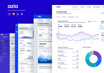 azia admin bootstrap 4 template