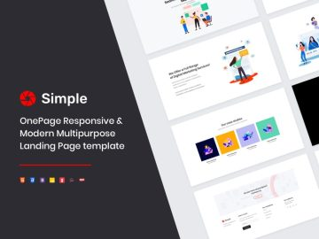 simple one page responsive template