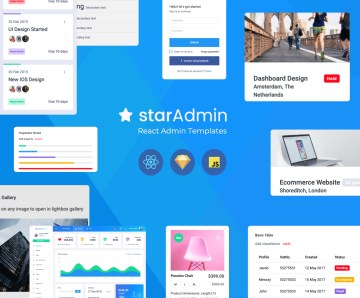 star admin react templates