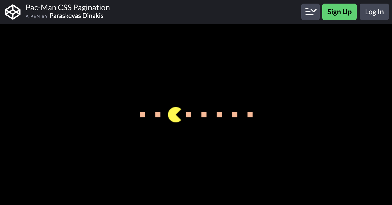 Pac-Man CSS Pagination