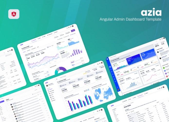 angular dashboard azia