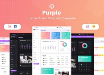 laravel admin panel Purple Laravel template