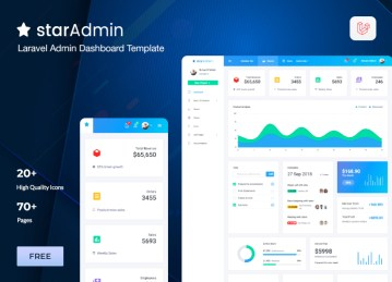 laravel admin template for star admin