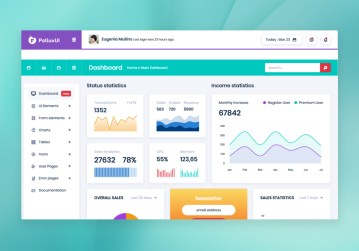 bootstrap admin template free PolluxUI