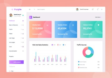 Purple Vue admin template
