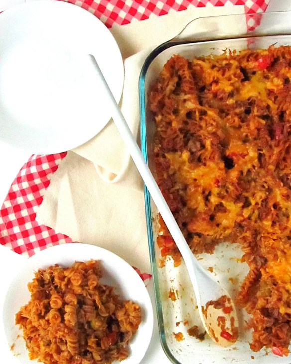 Cajun-BBQ-Chickepea-Pasta-Bake-with-Chicken