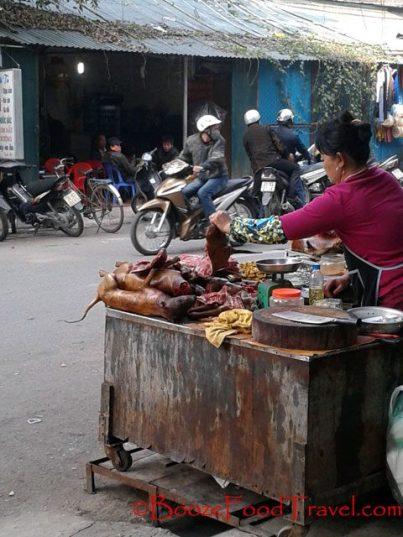 roasted dog hanoi