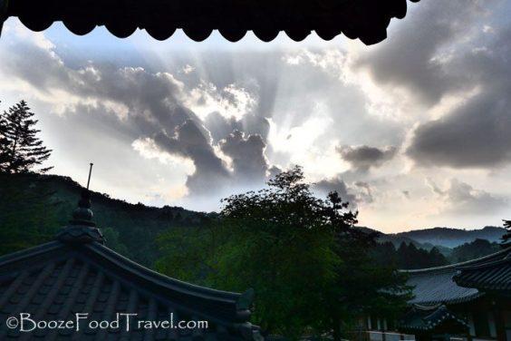 woljeongsa sunset