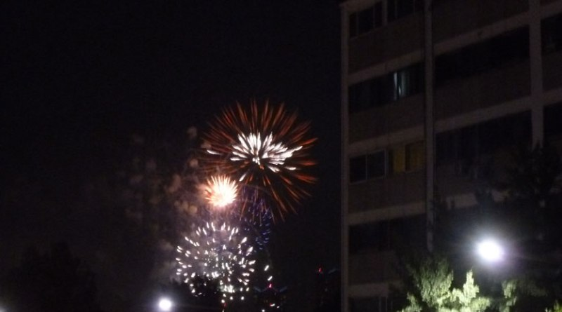 4th of July fireworks in Seoul