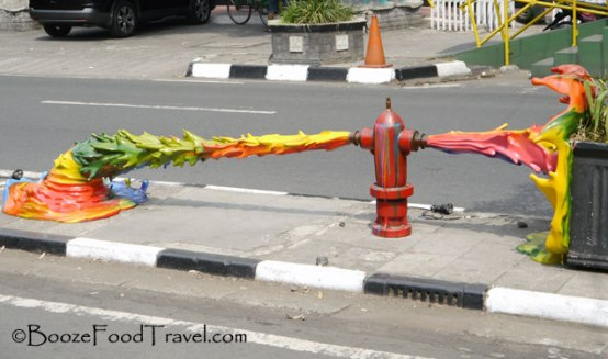One of the colorful sculptures along Malioboro Street