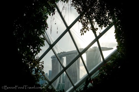Marina Bay Sands from inside the artificial mountain
