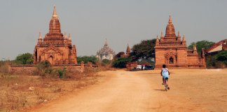biking bagan burma
