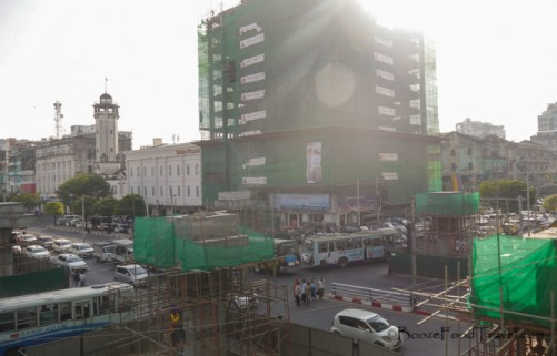 Yangon construction