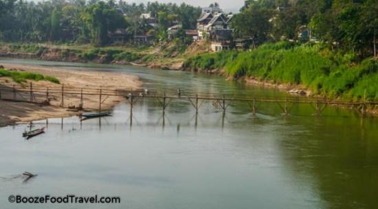 bamboo bridge laos