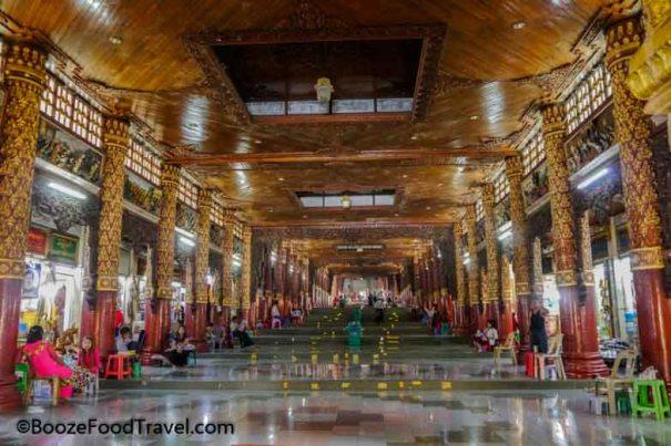 shwedagon pagoda hallway
