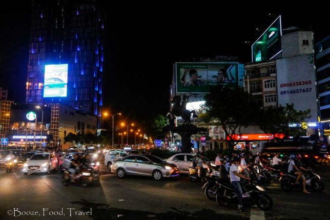 saigon traffic night