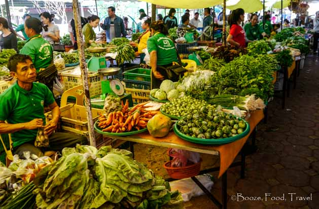 lao organic market