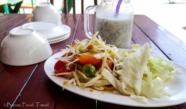 papaya salad laos