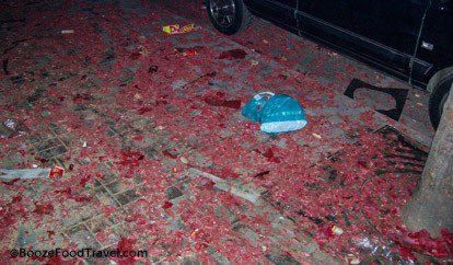 firecracker debris