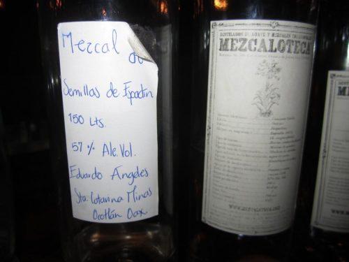 Rare mezcal, courtesy of Lou Bank, photo David Hammond