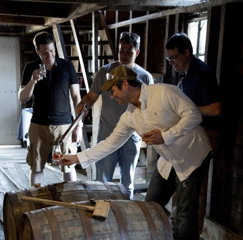 Barrel tasting at Heaven Hill/Photo: Monica Kass Rogers